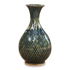 Amazon.com : NOVICA Blue Ceramic Celadon Vase From Thailand 'Glamorous Celebration' : Decorative Vases : Kitchen & Dining