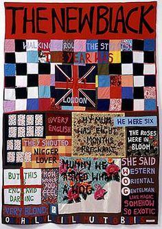 Tracey Emin, The New Black, 2002. Appliqué blanket.