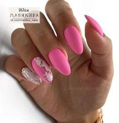 Pink Nail Art, Gel Nail Art, Pink Nails, Stylish Nails, Trendy Nails, Cute Nails, Manicure Nail Designs, Nail Manicure, Shellac Designs