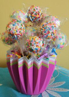 Funfetti Cake Pop Bouquet