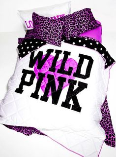 Vs PINK bed | ... Comforter - Victoria's Secret Pink® - Victoria's Secret | We Heart It