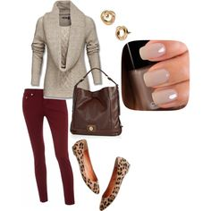 I reaaaaally want berry/wine colored pants.