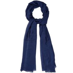 Denis Colomb Silky Cloud cashmere and silk-blend scarf (€330) ❤ liked on Polyvore featuring accessories, scarves, blue, denis colomb, blue scarves, denis colomb scarves, wrap shawl and blue shawl