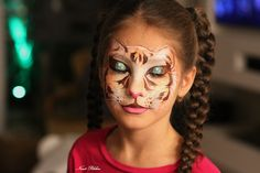 Cat face painting Nurit Pilchin