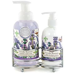 Michel Design Works Lavender Rosemary Soap & Lotion Caddy Set ($15) ❤ liked on Polyvore featuring beauty products, bath & body products and body cleansers