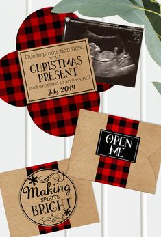Christmas Pregnancy Announcement - Printable - Grandparents - Gender Reveal - Buffalo Plaid - Baby Announcement - Digital File - Ultrasound Pregnancy First, Pregnancy Early Pregnancy Announcement To Parents, Christmas Baby Announcement, Pregnancy Tips, Christmas Pregnancy Reveal, Christmas Gender Reveal, Baby Announcement Grandparents, Ectopic Pregnancy, Early Pregnancy, Pregnancy Ultrasound