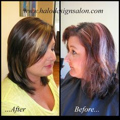 Halo Designs Salon. Hair Cut, Colored & Styled By Amber Gamble