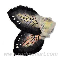 Felted Art scarf Wrap Shawl Wool Monarch butterfly. by RudmanArt, $149.00
