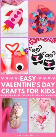 Easy Preschool Crafts, Valentine's Day Crafts For Kids, Valentine Crafts For Kids, Kindergarten Crafts, Valentines Day Activities, Craft Activities For Kids, Toddler Crafts, Art For Kids, Bored Kids