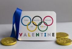 Winter Olympics Valentine's Day card