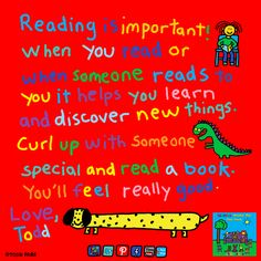 End message - Reading Makes You Feel Good by Todd Parr