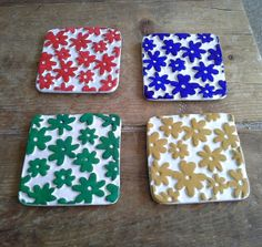 Flower Coaster Set £6.00  By Lisa Jane