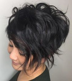 Short Bob with Long Edgy Layers