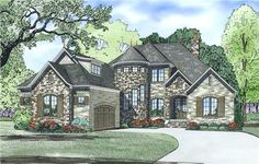 View this 2 story, 4 bedroom, alluring French home plan (#153-1990) with country influences at The Plan Collection.