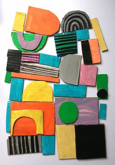 Marcus Oakley- what a perfect open-ended art project for preschool- creating texture and 3D design