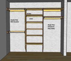 Closet Shelving Layout & Design , THISisCarpentry - Bedroom Closet Organizers, Closet Shelving Design, Closet Storage Ideas | homahku.com