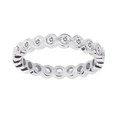 White Gold Stackable Ring LR4571W44JJ