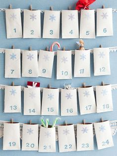 Toilet Paper Roll Advent Calendar - For my friends with kids that do this, cute idea.