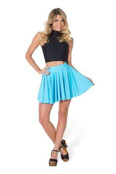Matte Light Blue Cheerleader Skirt