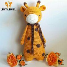 Giraffe by derya__design. Crochet pattern by Little Bear Crochets: www.littlebearcrochets.com ❤️ #littlebearcrochets #amigurumi