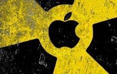iPhone Backgrounds Radiation Logo