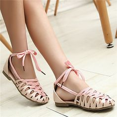 Girls' Shoes Dress Closed Toe  Flats Blue/Pink/White – USD $ 34.99