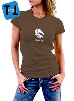 HORSE T-shirt marron pour les amoureux des chevaux et équitation - Tshirt femme de la boutique teeFORtea sur Etsy