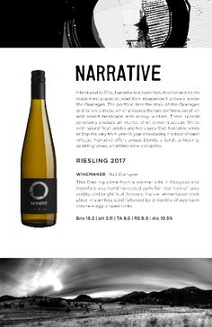 Narrative 2017 Rieslings | Tasting notes from Okanangan Winery in Summerland, BC White Wine, Alcoholic Drinks, Notes, Let It Be, Report Cards, White Wines, Liquor Drinks, Notebook, Alcoholic Beverages