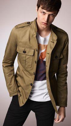 Saffron yellow Graphic Print Cotton T-Shirt - Image 3 Dope Fashion, Mens Fashion, Fashion Menswear, Fashion Ideas, Fashion Trends, Safari Jacket, Field Jacket, Well Dressed Men, Mens Clothing Styles