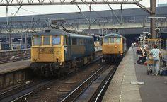 BR Class 86 86221, London Euston, 9th. July 1983 Electric Locomotive, Diesel Locomotive, Uk Rail, Train Service, British Rail, Wwii, Old School, Planes, Britain