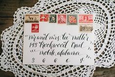 Wedding invitations: Lucky Penny Paperie - Kentucky Winter wedding by Aubrey Renee Photography - via ruffled