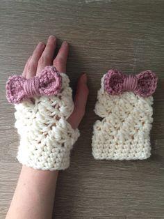 Fingerless gloves crochet fingerless mittens by EvelynAndPeter