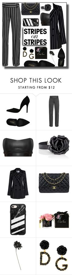 """""""Stripes on stripes."""" by aura-helena ❤ liked on Polyvore featuring PrimaDonna, Haider Ackermann, Yves Saint Laurent, Zimmermann, Chanel, Casetify, Côte Noire and Dolce&Gabbana"""