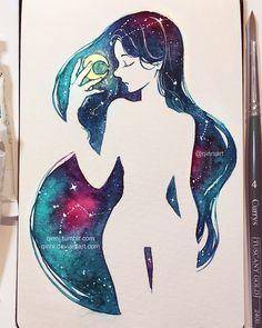 Galaxy Queen by Qinni on DeviantArt - http://kelogsloops.deviantart.com/art/Galaxy-Queen-603679219