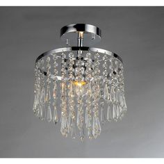 Seek 1-light Chrome Crystal Chandelier - Overstock™ Shopping - Great Deals on Warehouse of Tiffany Chandeliers & Pendants