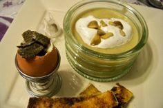 Cuisine en folie: Soupe de panais à la chantilly au sumac et son oeuf coque truffé