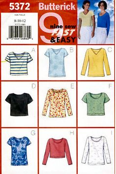 PLUS SIZE TOPS Sewing Pattern - 9 Easy Misses Top Sizes 20-24 - SOLD!