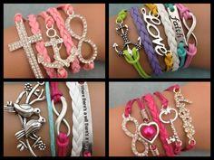 U25 ALL four (4) Affirmation Sayings Charm Bracelet. Starting at $1 on Tophatter.com!