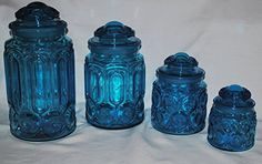 Vintage L.E. Smith Glass Blue Moon and Stars Canister Set 4 Canisters with Lids Stars and Moon http://www.amazon.com/dp/B00V558N8U/ref=cm_sw_r_pi_dp_RiT8vb1MHDS26