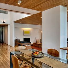 wood floors and white walls