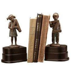 "Girl and Boy ""A to Z"" Bookends Pair  by SPI $79.95"
