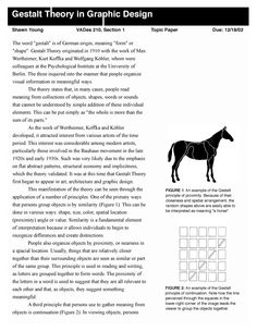 gestalt theory essay Gestalt therapy: past, present, theory, and research laura e wagner-moore university of massachusetts at.