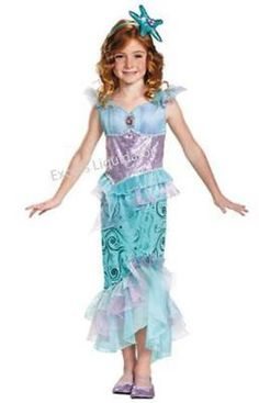 ARIEL DISNEY PRINCESS Deluxe Child Costume by Disguise, Headband included