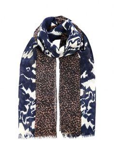 Ikat & Animal Print Stole - Scarves & Stoles | Brora