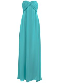 Turquoise ruched bandeau maxi - Brands at DP - Dresses - Dorothy Perkins United States