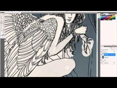 ▶ Watercolour skills in photoshop - part 1 with Erin Kelso - YouTube