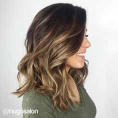 Dark Brown Hair With Golden Brown Balayage