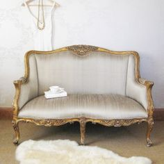 Versailles Bedroom Sofa.  Oh how lovely.  I would prefer the frames with distressed white and grey paint.
