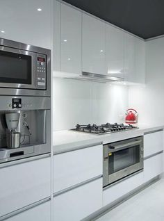 Shiny white kitchen