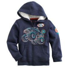 SONOMA life + style Monster Truck Fleece Hoodie - Boys 4-7x